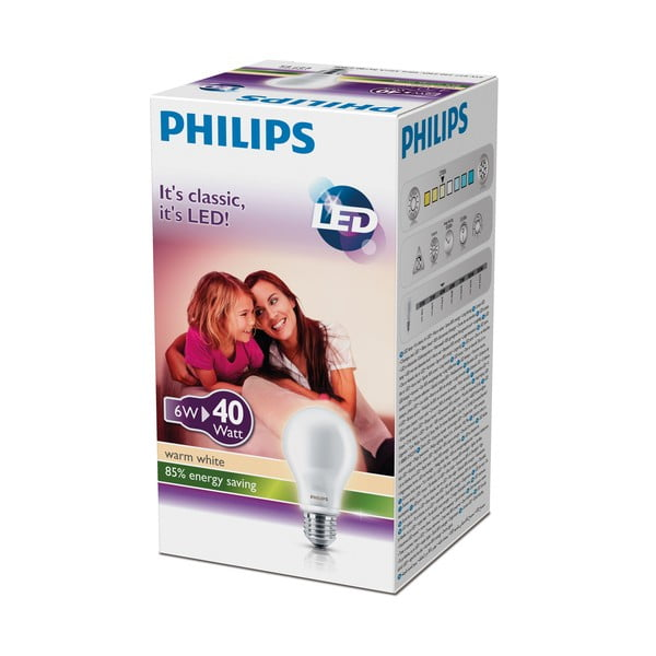 Żarówka LED Philips 40W E27 WW 230V A60 FR ND Box CT/10
