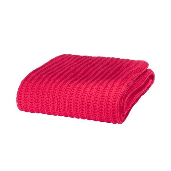Koc Chunky Knit Red, 125x150 cm