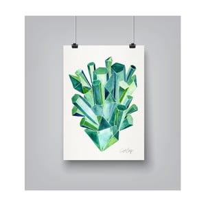 Plakat Americanflat Emeralds, 30x42 cm
