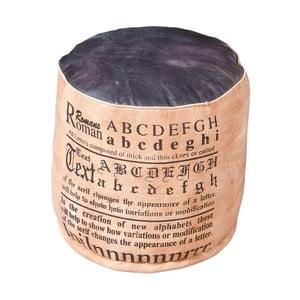 Brązowy puf z elementami ze skóry 13Casa Industry