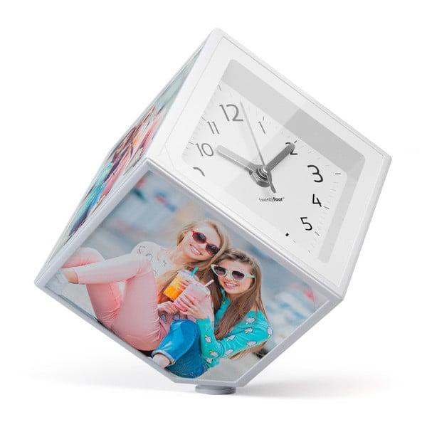Rotująca fotokostka z zegarkiem Balvi, 10x10 cm