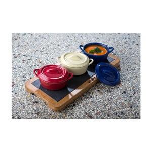Zestaw 3 ceramicznych misek z pokrywką Laguiole Joël