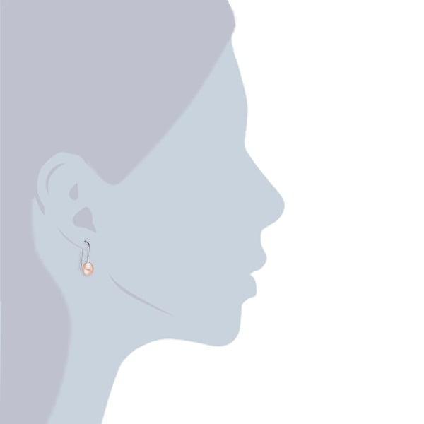 Perłowe kolczyki Lili, jasnopomarańczowe perły