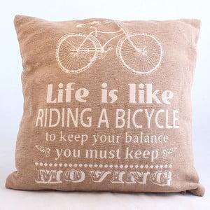 Dekoracyjna poszewka na poduszkę Bicycle, jasna, 40x40 cm