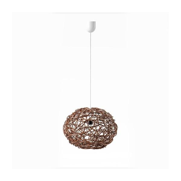 Lampa wisząca Kula, 32x25 cm, brązowa