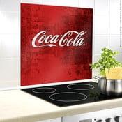 Szklana płyta ochronna na ścianę przy kuchence Wenko Coca-Cola Classic, 70x60cm
