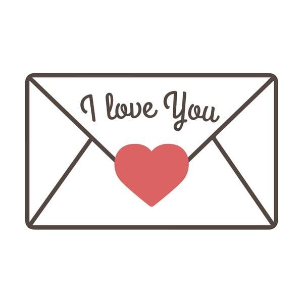 Naklejka ścienna Love Message
