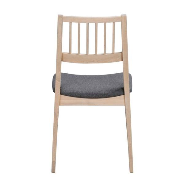 Zestaw 2 białych krzeseł z drewna dębowego Folke Dan