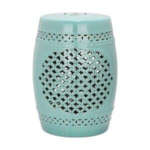 Turkusowy stolik ceramiczny Safavieh Marbella