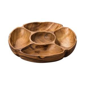 Okrągły półmisek do serwowania przekąsek z drewna akacjowego Premier Housewares Socorro
