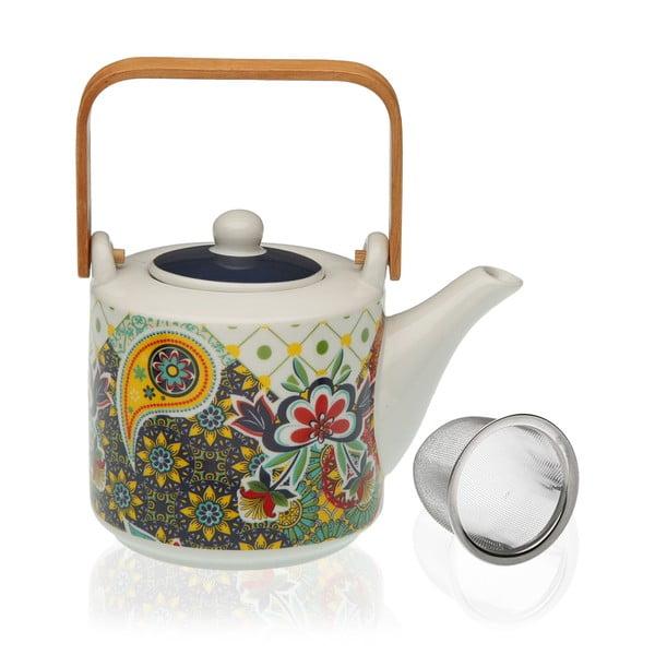 Porcelanowy dzbanek z sitkiem na herbatę Versa Giardino