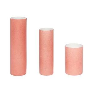 Zestaw 3 różowych wazonów Hübsch Tycho