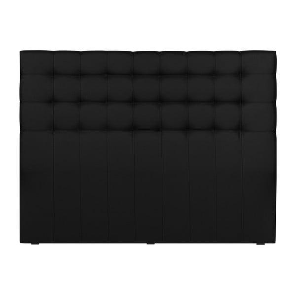 Czarny zagłówek łóżka Windsor & Co Sofas Deimos, 140x120 cm