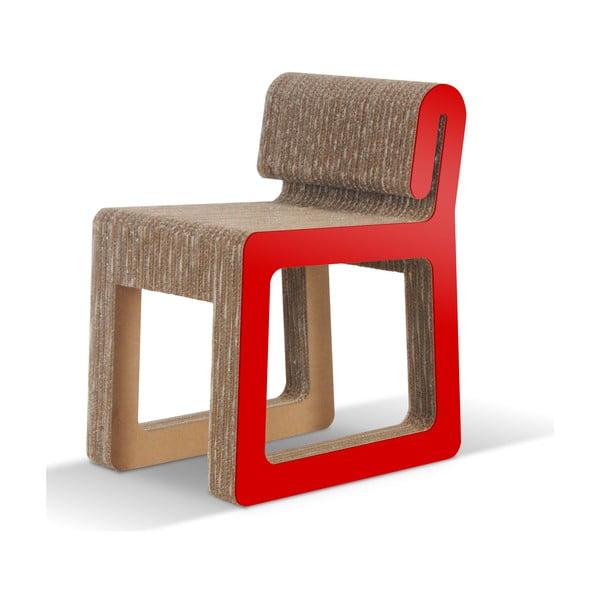 Kartonowe krzesło Hook Red