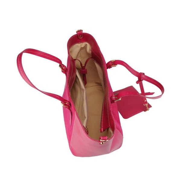 Skórzana torebka Gomeisa, różowa