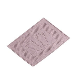 Różowy bawełniany dywanik łazienkowy Verge Bath Mat Linse, 50x70 cm