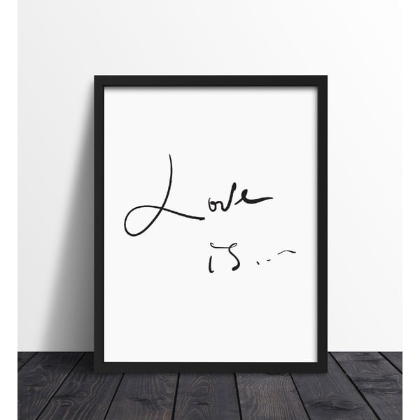 Plakat w ramie Love Is, 30x40 cm