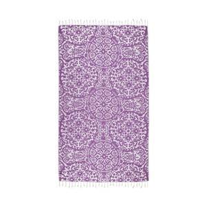 Fioletowy ręcznik hammam Kate Louise Camelia, 165x100 cm
