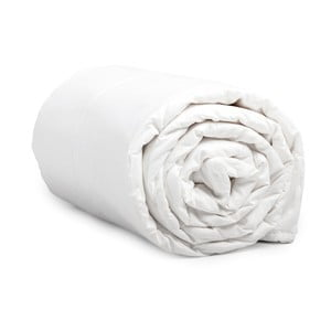 Dwuosobowa kołdra z mikroperkalu Sleeptime Quilt White, 240x220 cm