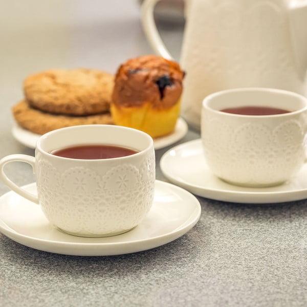 Zestaw do herbaty Krauff Lacy, 12 szt.