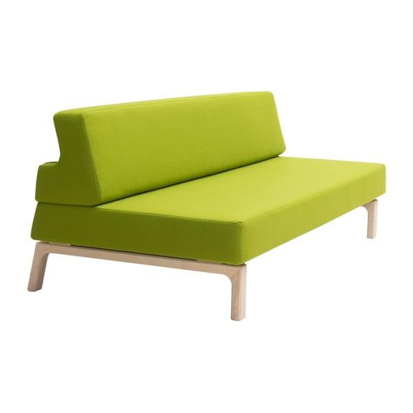 Zielona sofa rozkładana Softline Lazy