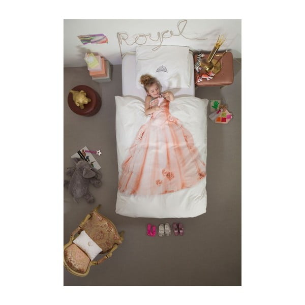 Bawełniana pościel jednoosobowa Snurk Princess, 140x200 cm