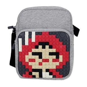 Pikselowa torba na ramię, szara