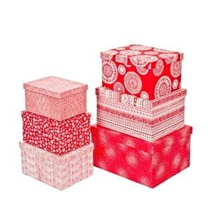 Zestaw 6 sztuk pudełek Bizzotto Plus Red