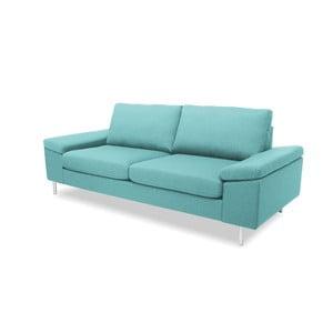Jasnoturkusowa sofa trzyosobowa VIVONITA Nathan