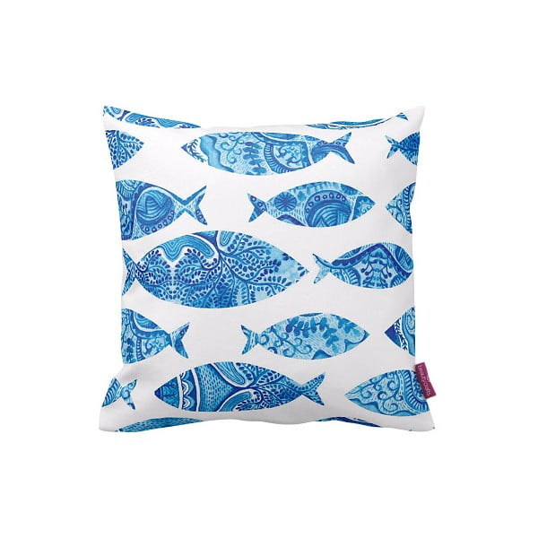 Poszewka na poduszkę Blue Fish, 43x43 cm