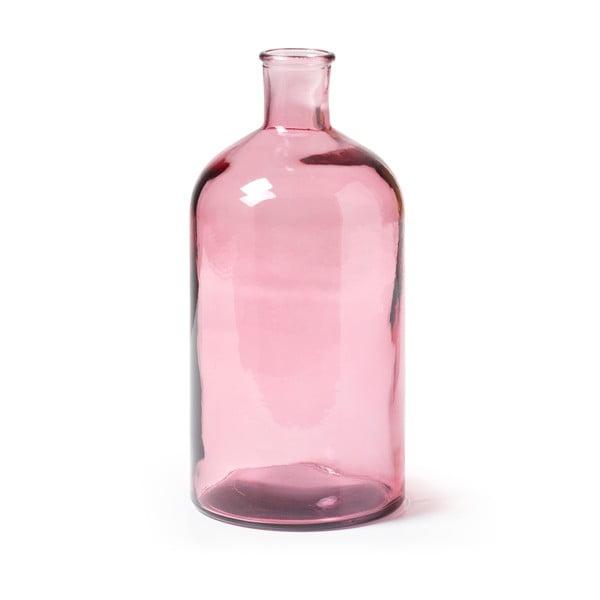 Różowy wazon ze szkła La Forma Semplice, wys. 28 cm