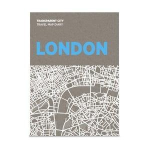 Mapa Londynu z przezroczystymi kartkami na notatki Transparent City