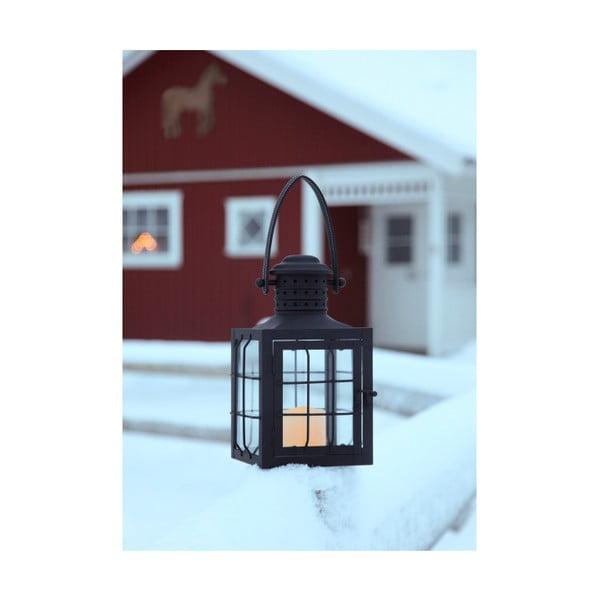 Czarny lampion LED z uchwytem Best Season