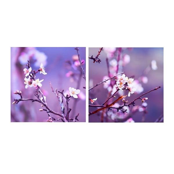 Zestaw obrazów na szkle Wiosna, 20x20 cm, 2 szt