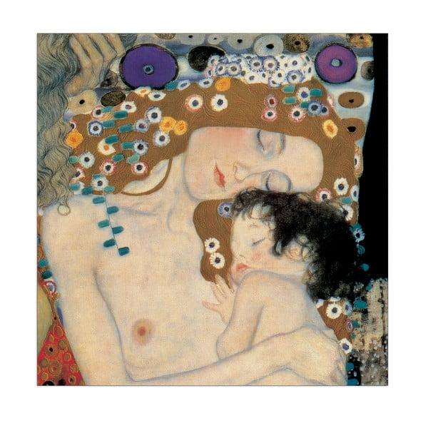 Obraz Gustav Klimt - Matka i dziecko, 96x96 cm