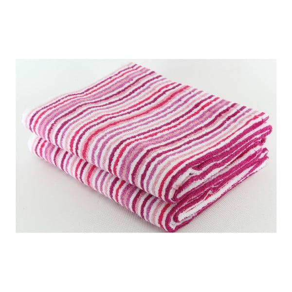 Zestaw 2 ręczników Collette Mauve, 70x140 cm