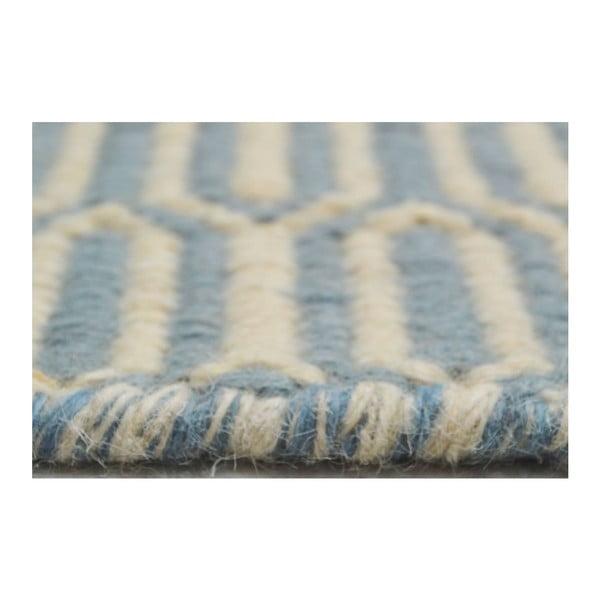Ręcznie tkany kilim Flat Honey Sky, 140x200 cm