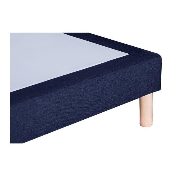 Granatowe łóżko z materacem Stella Cadente Venus, 140x200 cm