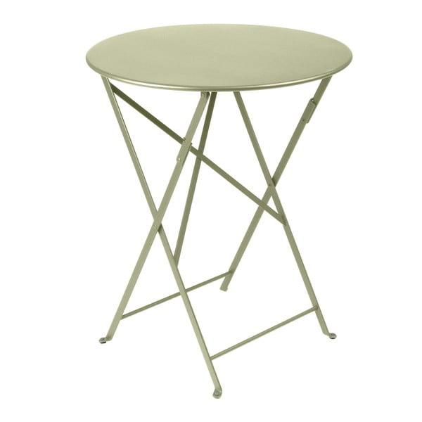 Zielony składany stół metalowy Fermob Bistro