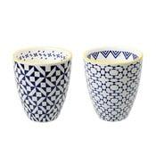 Zestaw 2 porcelanowych filiżanek Geometric No2