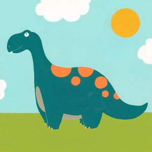 Obrazek dla dziecka Dino, 30x30 cm