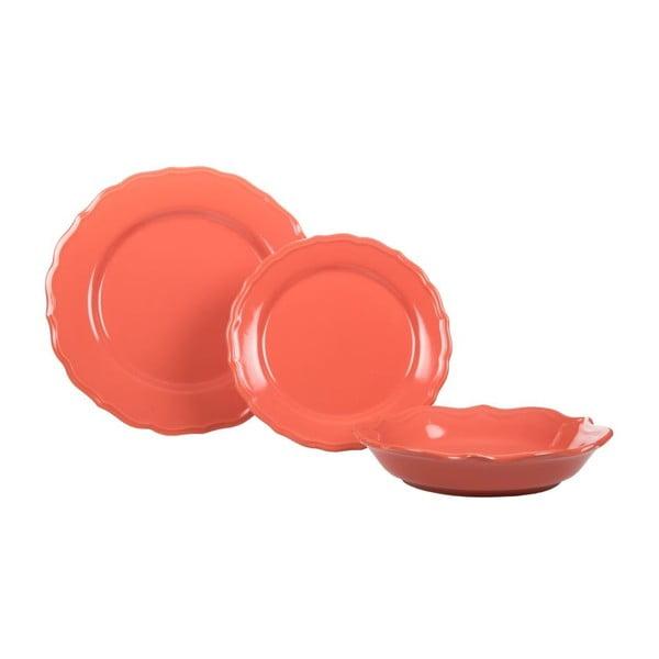 Komplet 18 talerzy ceramicznych Pink Venice