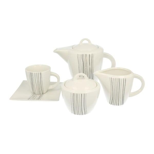 15-częściowy zestaw porcelany na kawę Silver Line