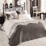 Pikowana narzuta z poszewkami na poduszki Mixscarlet Beige, 200x220 cm
