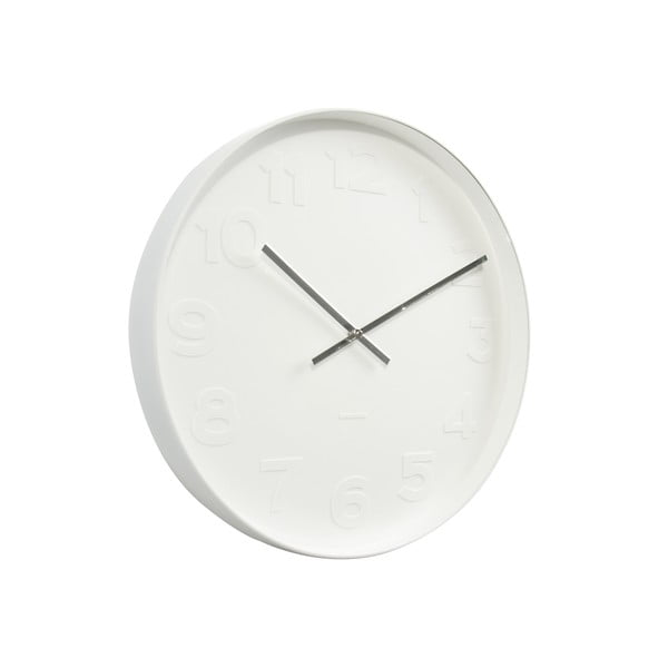 Biały zegar Karlsson Time Mr. White