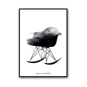 Plakat autorski Rocking Chair, 50x70 cm