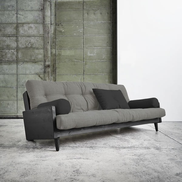 Sofa rozkładana Karup Indie Black/Granite Grey/Dark Grey