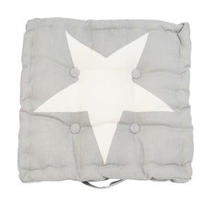 Szara poduszka na krzesło Clayre & Eef Star