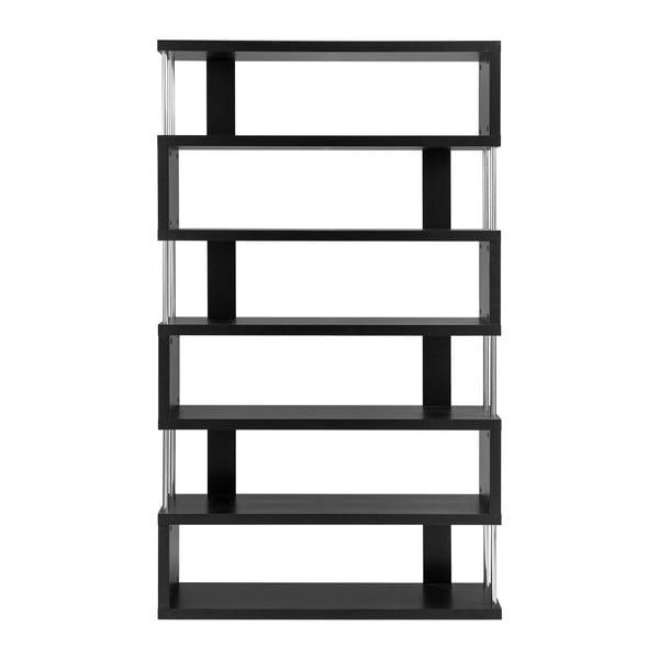 Czarna biblioteczka z 6 półkami Støraa Kiera