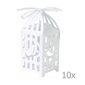 Komplet 10 pudełek na prezenty Birdcage